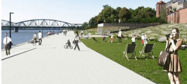 Po modernizacji Bulwar Filadelfijski będzie w ponad 50-proc. składał się z terenów zielonych (fot.mat.prasowe)