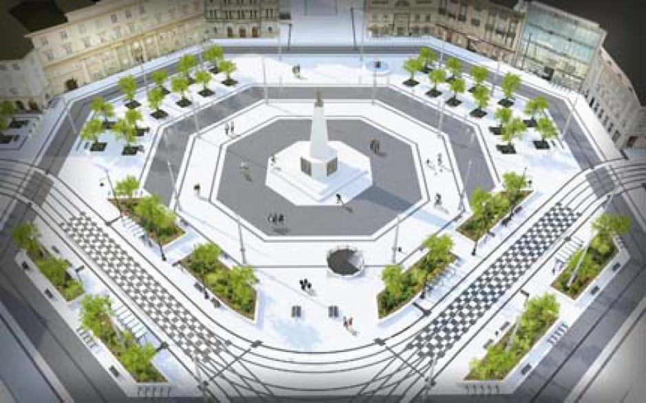 Plac Wolności to głównie rondo o charakterze komunikacyjnym. Po remoncie pełniłby funkcję placu, gdzie można przyjść, porozmawiać, spotkać się, odpocząć i spędzić mile czas (fot.mat.prasowe)