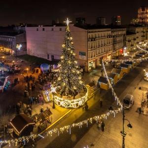 Łódź dla ulicy Piotrkowskiej przewidziała iluminacje na długości dwóch kilometrów. (fot. UM Łódź)