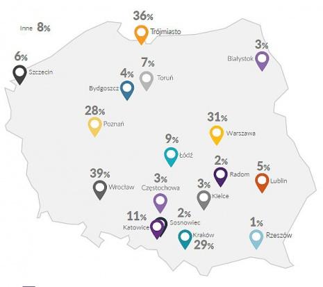 Miasta najmniej i najbardziej atrakcyjne dla specjalistów i menedżerów