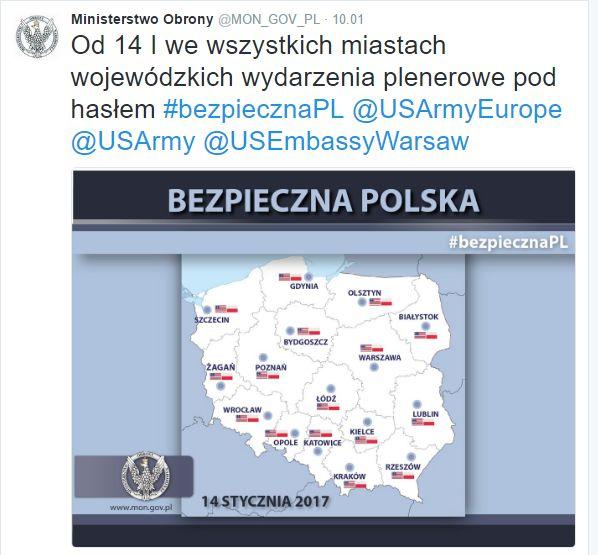 To właśnie ten wpis MON wzbudził konsternację w Gdyni.Źródło: twitter.com