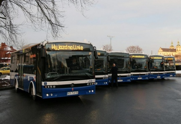 15 autobusów wyprodukowanych przez Autosan ruszyło na ulice Krakowa