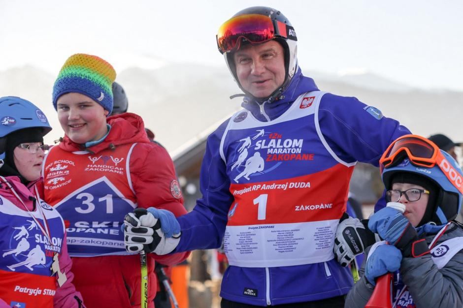 Zakopane: Prezydent Duda otworzył charytatywne zawody narciarskie