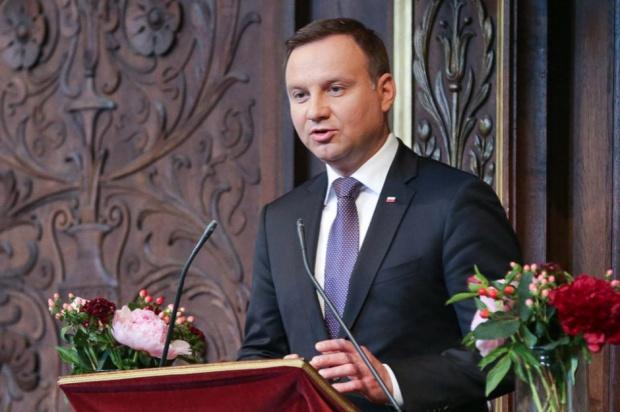 Andrzej Duda odebrał tytuł honorowego obywatela Wolbromia