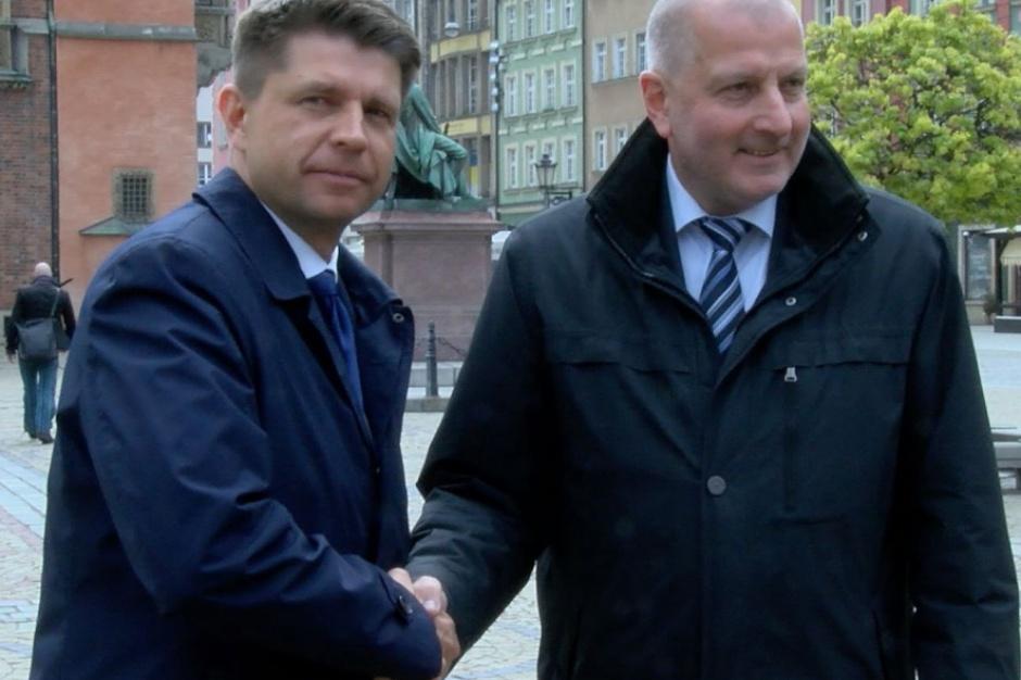 Ryszard Petru i Rafał Dutkiewicz, źródło: youtube.com