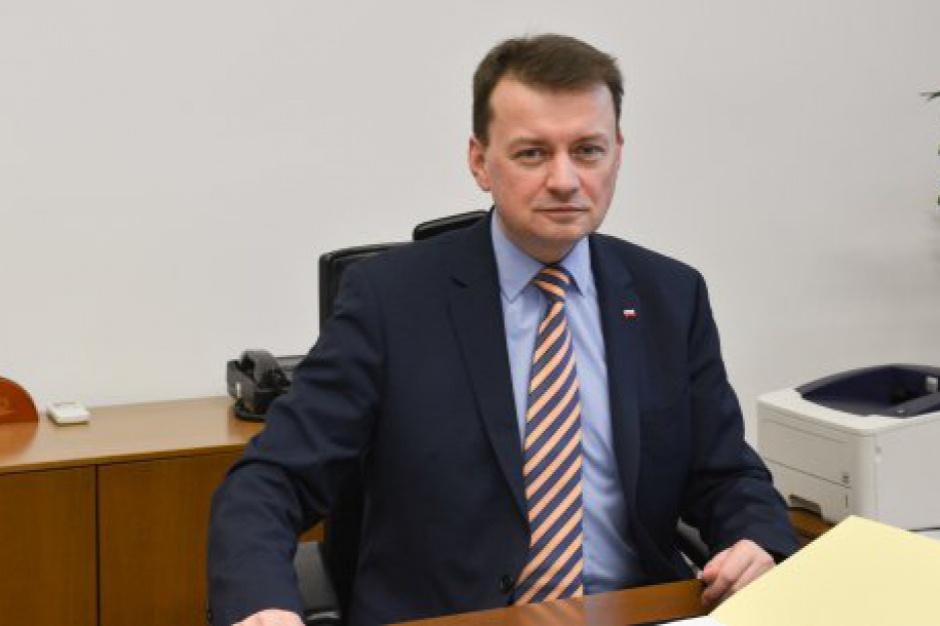 Chcą odwołania Mariusza Błaszczaka ministra spraw wewnętrznych i administracji