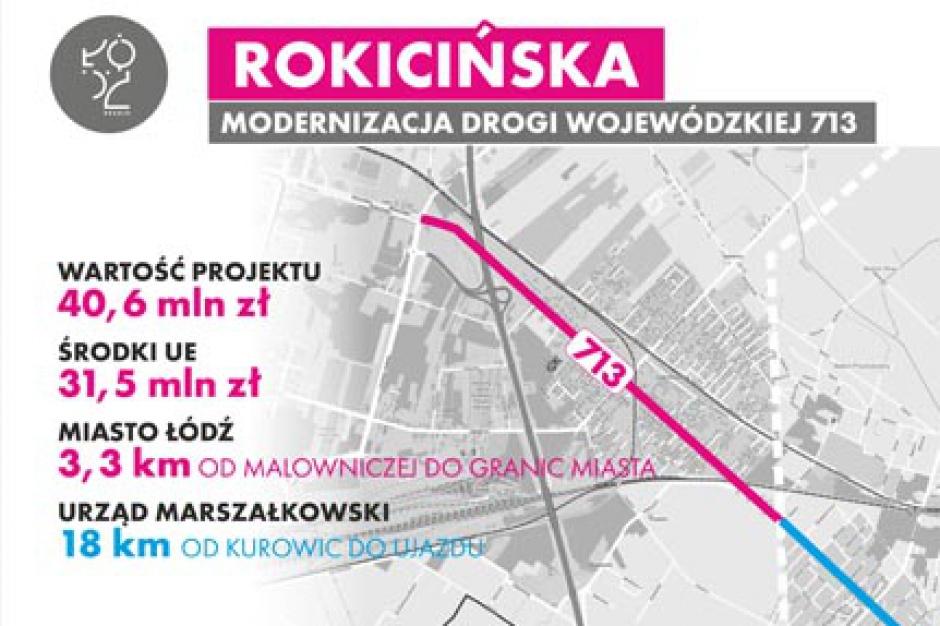 Łódź: Modernizacja drogi DW 713 do Tomaszowa Maz. i węzła A1