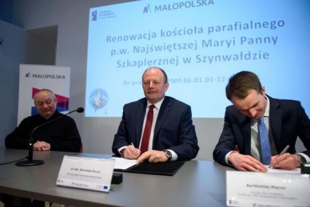 Ponad 2 mln zł środków z UE na remont kościoła w Szynwałdzie k. Tarnowa