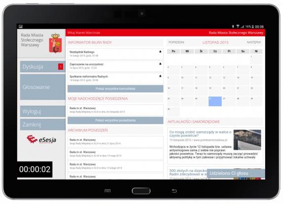 Aplikacja Radnego w systemie eSesja [http://esesja.pl]