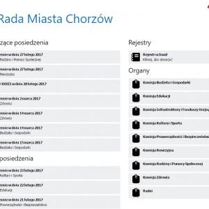 Portal Rady Miasta Chorzowa [http://chorzow.esesja.pl]