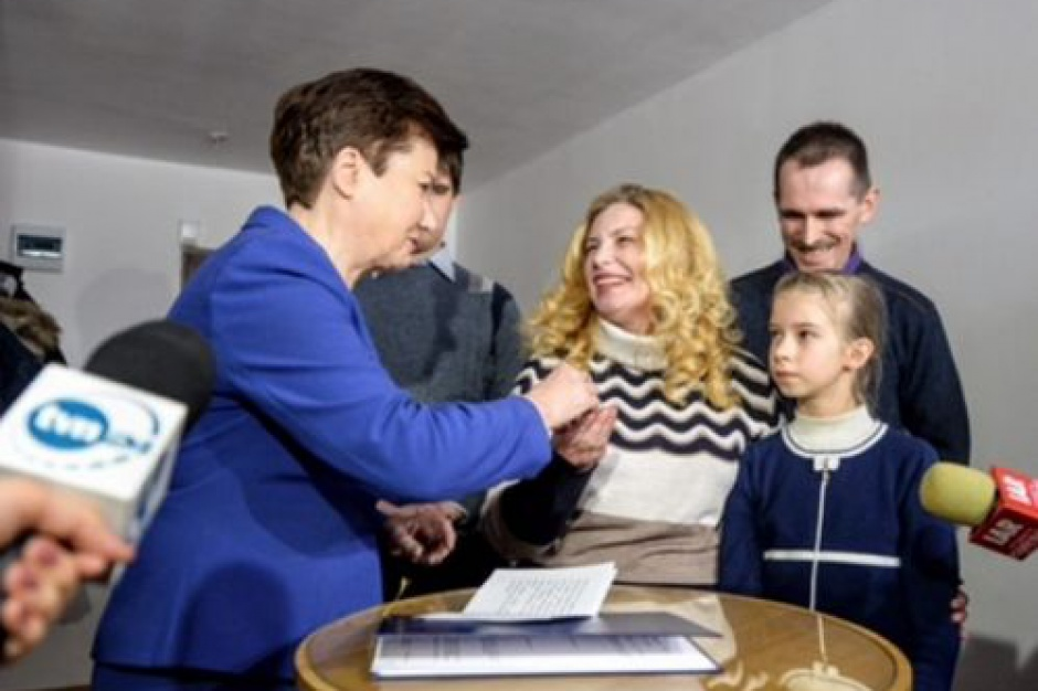 Polska rodzina z Ukrainy ma mieszkanie w Warszawie