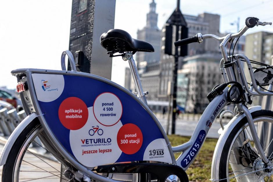 Warszawa: rekordowy start roweru miejskiego Veturilo