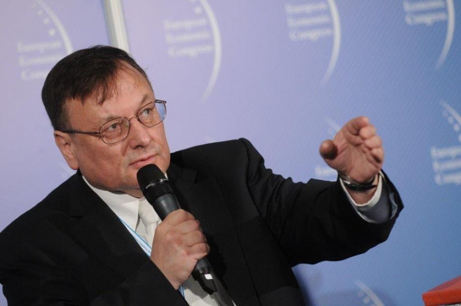 Adam K. Prokopowicz podczas Europejskiego Kongresu Gospodarczego w Katowicach.