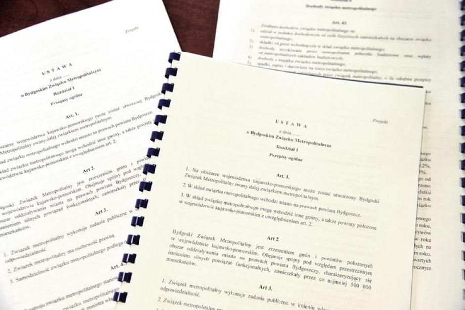 Bydgoszcz ma projekt ustawy metropolitalnej