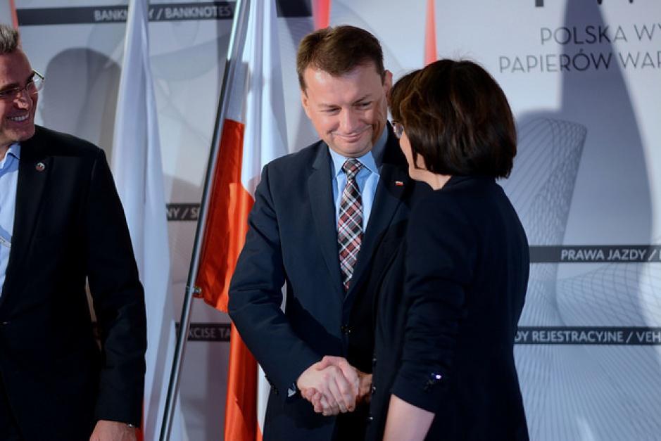 Minister administracji i spraw wewnętrznych Mariusz Błaszczak oraz Anna Streżyńska mieli trudny wspólny start w rządzie. Dziś kohabitują lepiej. (fot.: MSWiA)