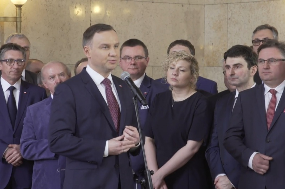 Andrzej Duda zaapelował w Katowicach do samorządowców [wideo]