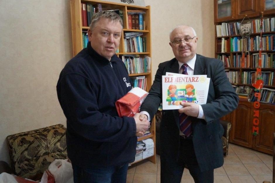 Zbigniew Jurkowski z delegacją z Lublina w Sumach we Wschodniej Ukrainie. (fot.:zorrp.org)