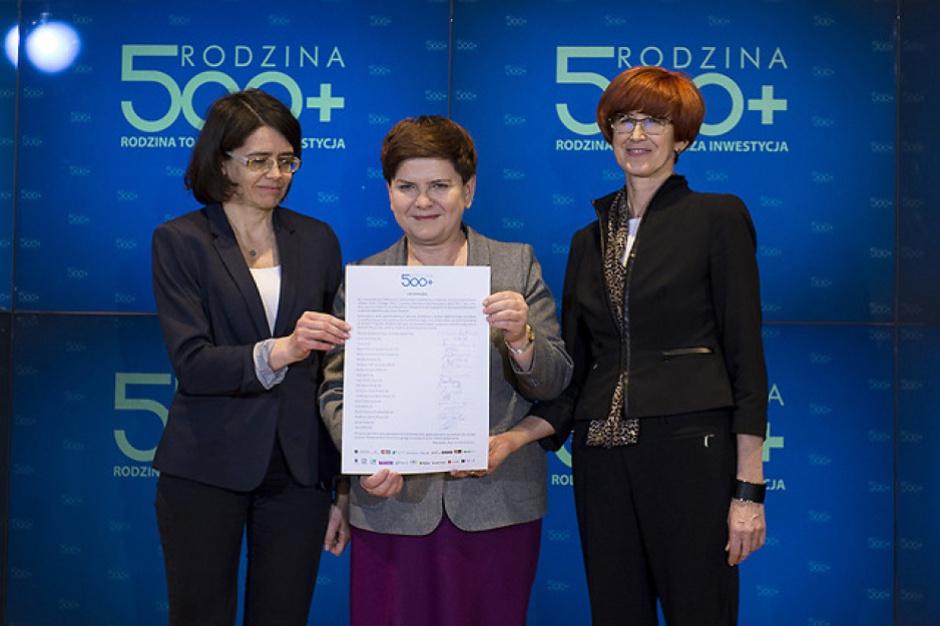 Łódzkie. Dzięki programowi 500 plus do rodzin trafiło 1,3 mld zł