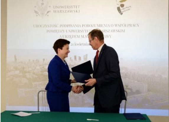 Warszawa: ratusz i uniwersytet podpisały porozumienie o współpracy
