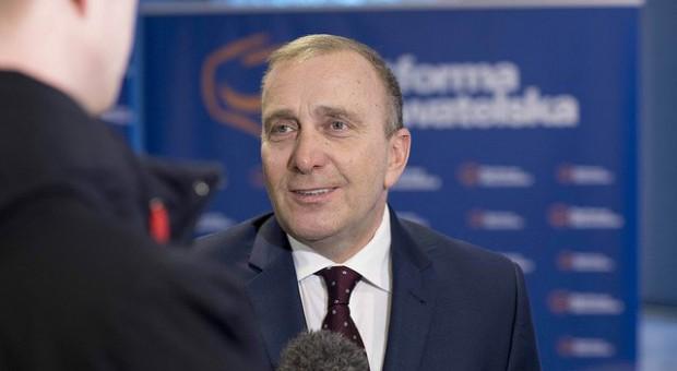 Lider PO, Grzegorz Schetyna także w wielu periodykach i wystąpieniach krytykował reformę edukacji, źródło: PO/twitter.com