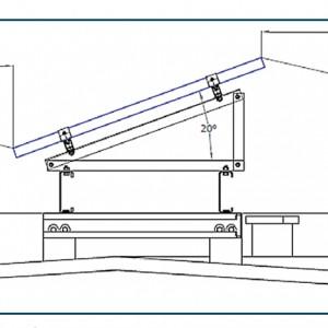 Rys. 1 Usytuowanie modułów i odległości pomiędzy stringami