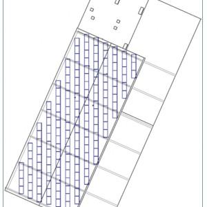 Rys. 3 Usytuowanie modułów w stosunku do krawędzi dachu