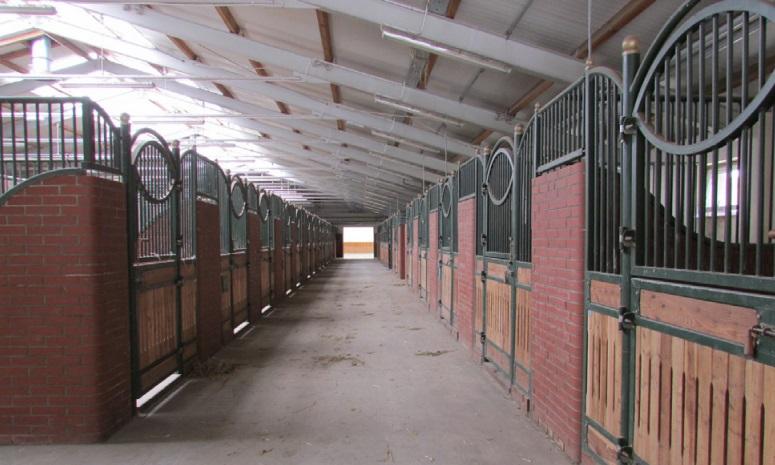 Puste boksy dla koni w ośrodku w Zakrzowie. (fot. NIK)