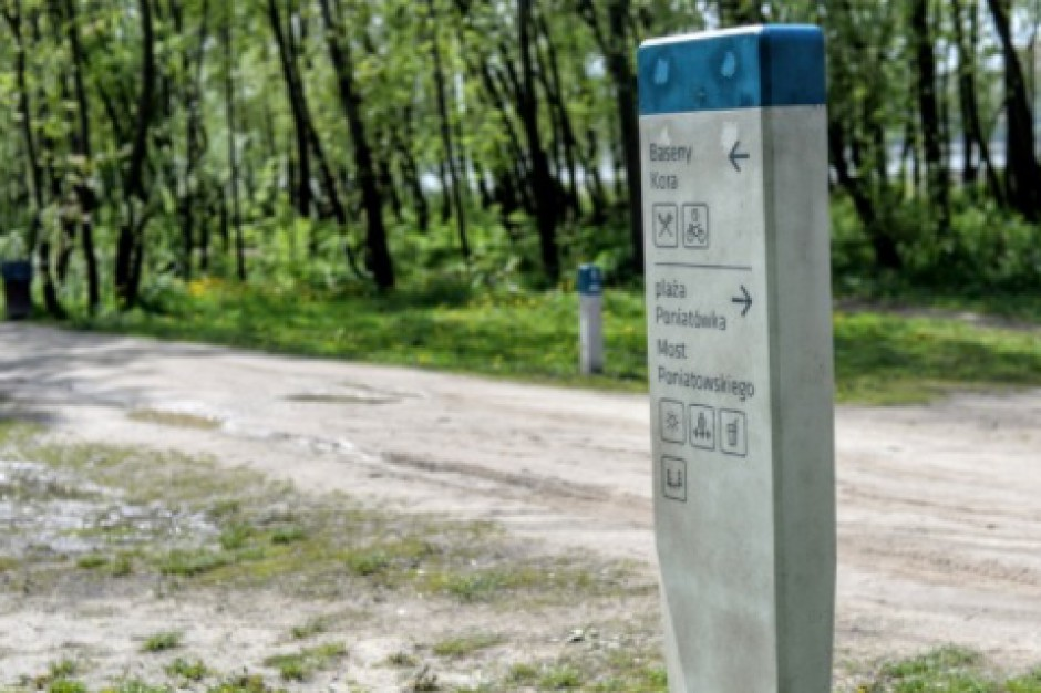 Warszawa oznakowuje tereny nad Wisłą