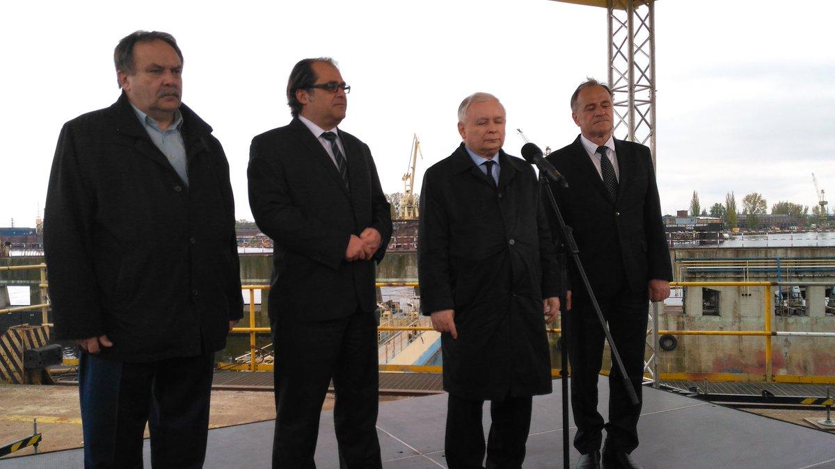Jarosław Kaczyński podczas wystąpienia w Szczecinie odniósł się do sytuacji tego miasta. (fot. PiS/Twitter)