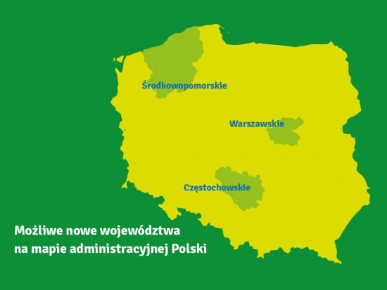 Będą nowe województwa? MSWiA: Chodzi o warszawskie, częstochowskie i środkowopomorskie - Komunikacja Społeczna
