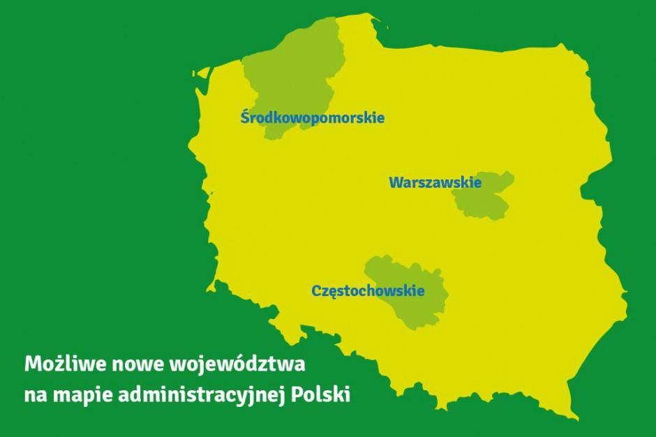 Będą nowe województwa? MSWiA: Chodzi o warszawskie, częstochowskie i środkowopomorskie