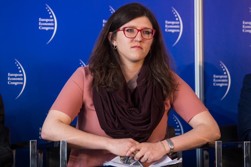 Natalia Kobza, ekspert Fundacji im. Lesława A. Pagi zaznacza, że technologia wchodzi bardzo agresywnie w nasze życie, zaś z drugiej strony mamy globalne zmiany, które zmieniają obraz miast. (fot. PTWP)