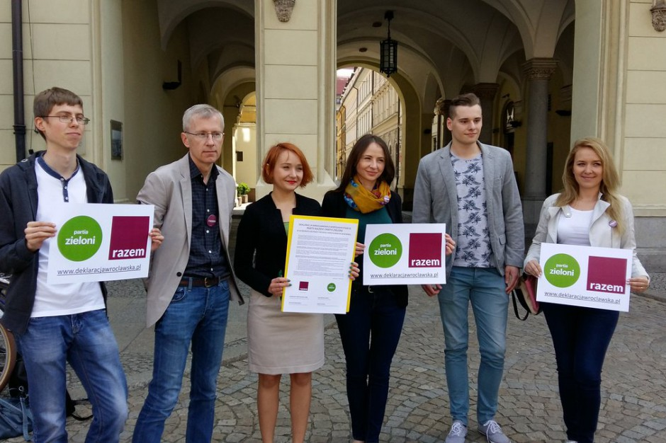 Wrocław: Zieloni i Razem wystawią wspólną listę w wyborach do Rady Miasta