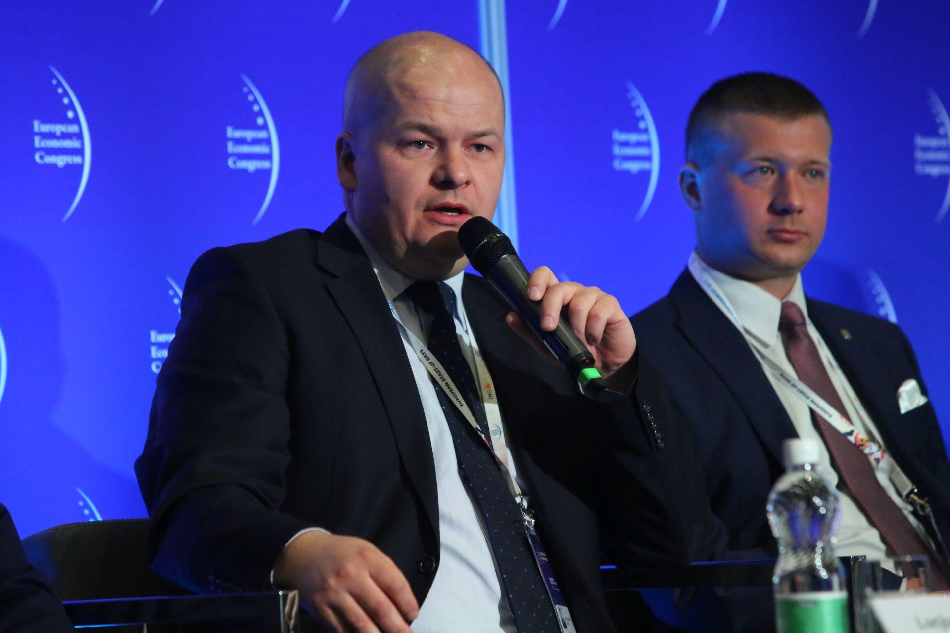 Andrzej Nowakowski, prezydent Płocka i Michał Trzoska, przewodniczący Rady Miejskiej w Łowiczu.Fot. PTWP