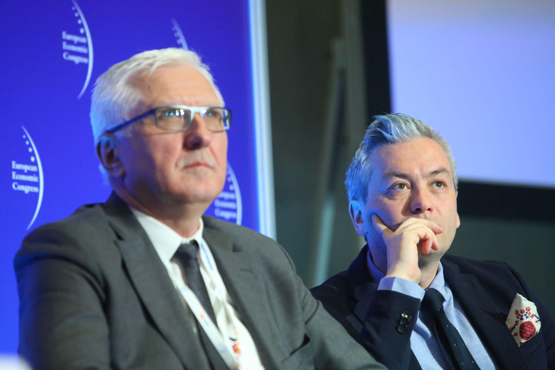 Wadim Tyszkiewicz, prezydent Nowej Soli i Robert Biedroń, prezydent Słupska.Fot. PTWP