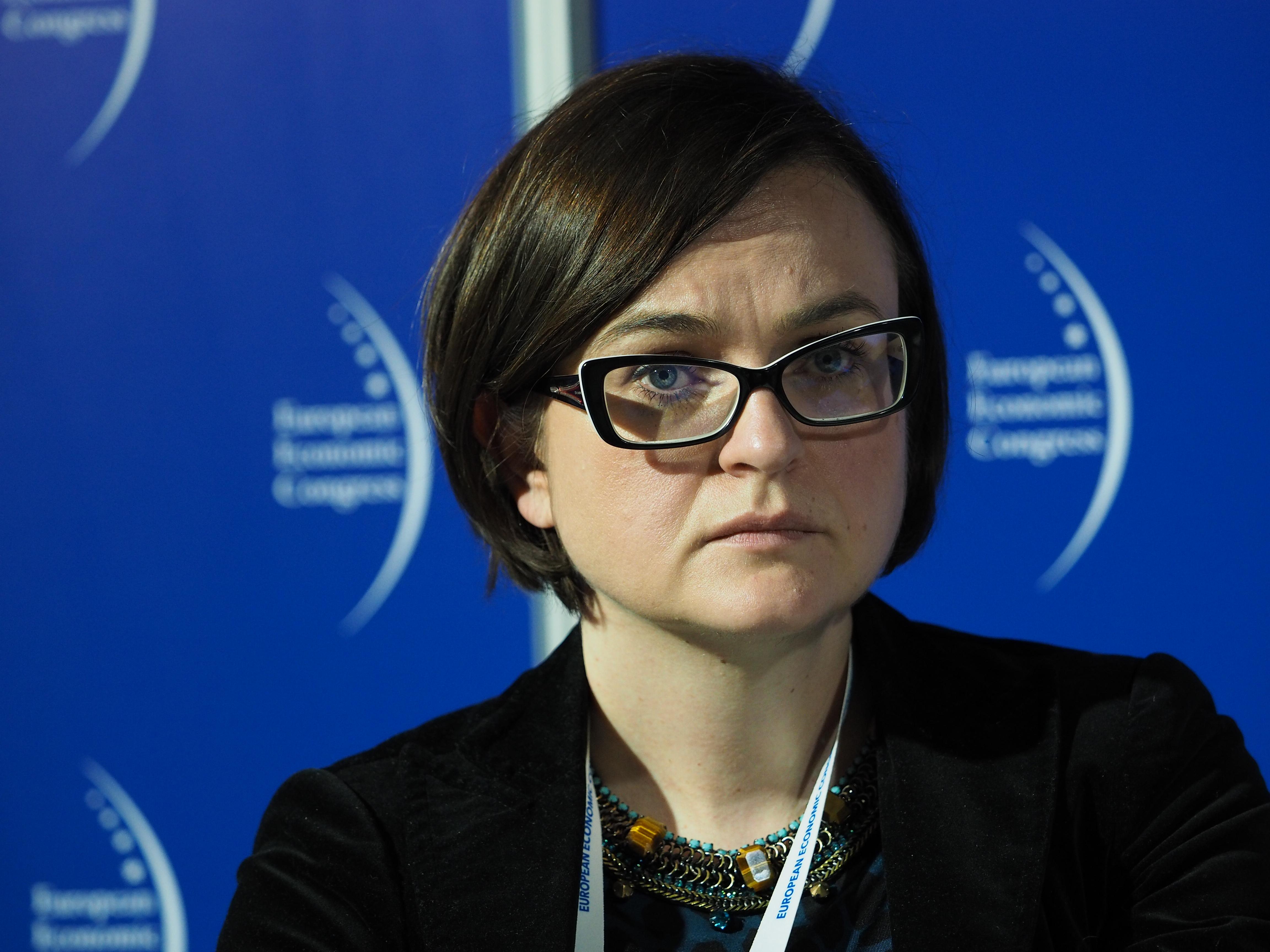 Agnieszka Szymczyk z Europejskiego Banku Odbudowy i Rozwoju poinformowała o systemie wsparcia dla projektów PPP. (fot. PTWP)