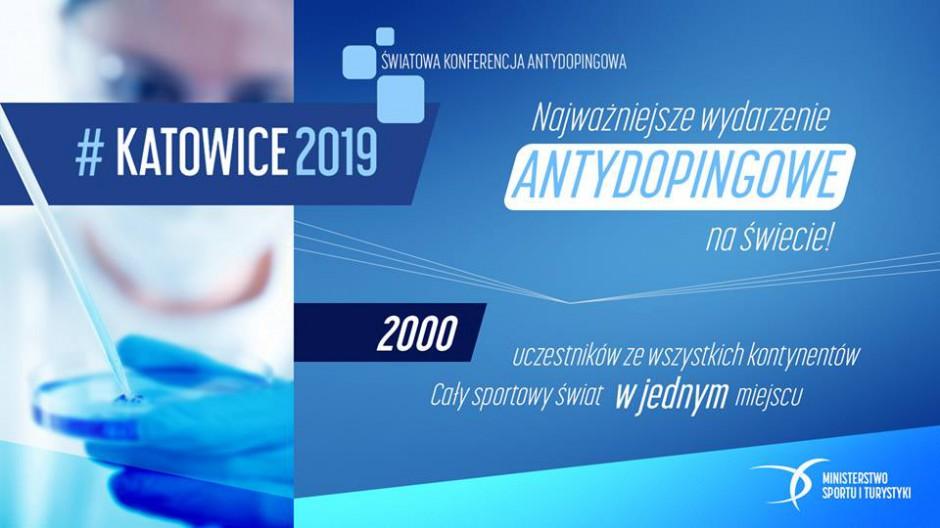 WADA zdecydowała. Katowice gospodarzem Światowej Konferencji Antydopingowej