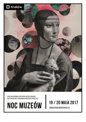 Plakat promujący krakowską Noc Muzeów, źródło: krakow.pl