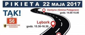 22 maja pikiety ws. budowy S6. Gdzie zablokują drogi?