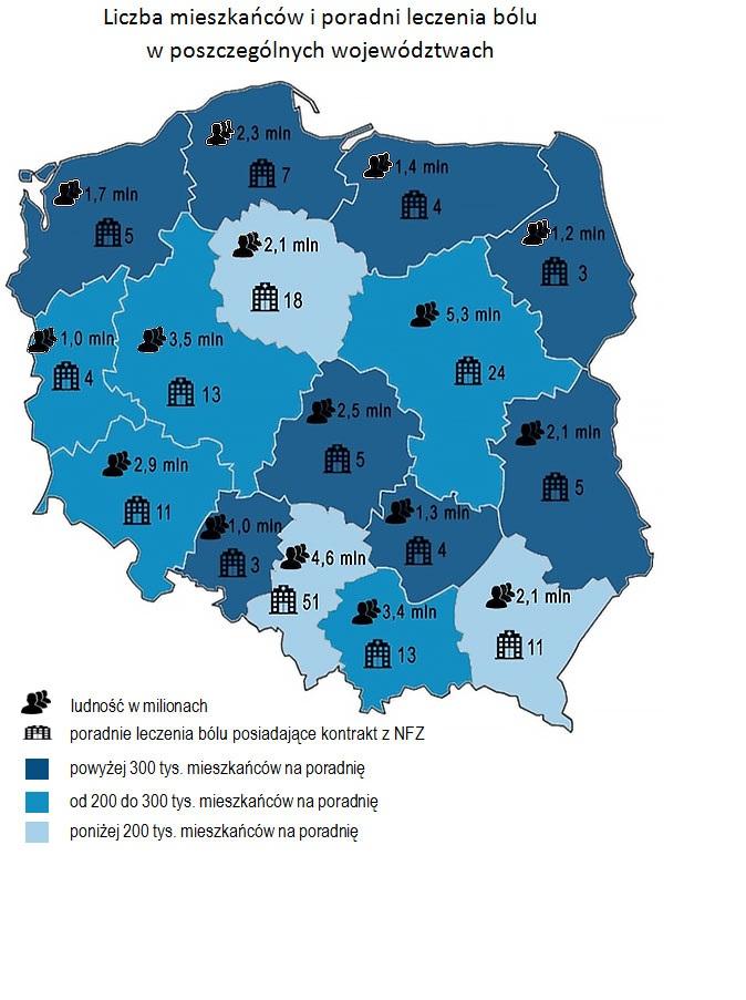 Źródło: Opracowanie NIK na podstawie danych NFZ uzyskanych od wszystkich wojewódzkich oddziałów NFZ (stan na 30 października 2016) oraz GUS (Powierzchnia i ludność w przekroju terytorialnym 2016).