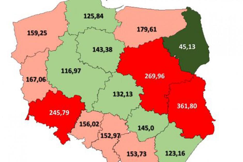 Mapa Zadluzenia I Dochodow Wojewodztw W Polsce Prawo I Finanse