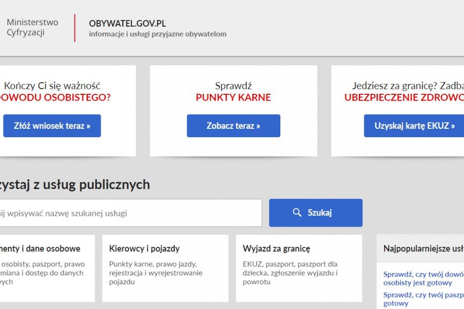 Serwis obywatel.gov.pl coraz popularniejszy
