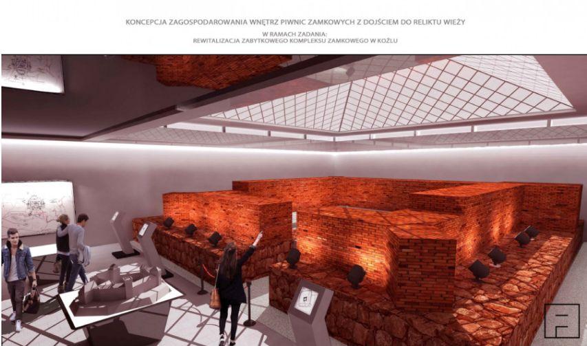 Wizualizacja zagospodarowania piwnic (źródło: UM Kędzierzyn-Koźle)