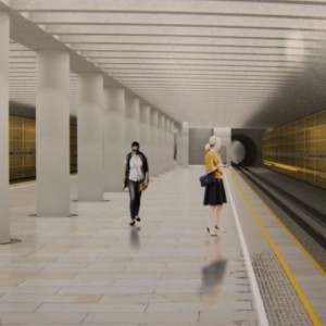 Stacja C2 Chrzanów (wizualizacja źródło: UM Warszawa)