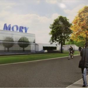 Stop Mory - wartownia wschodnia i wejście do elektrowozowni (wizualizacja źródło: UM Warszawa)