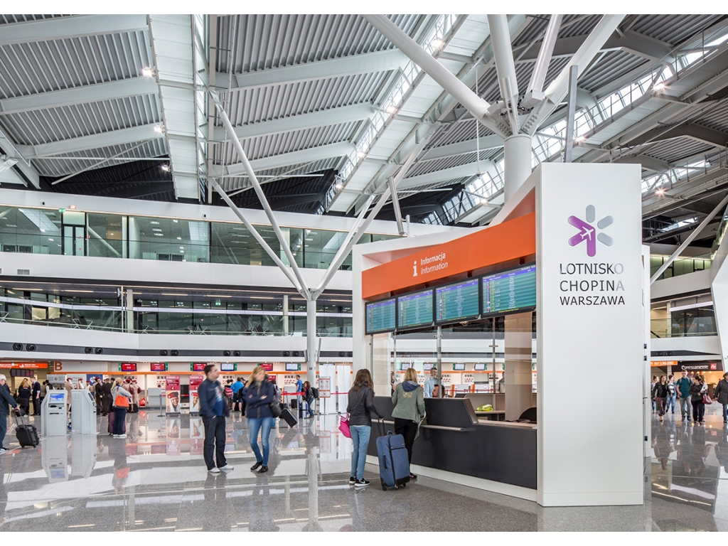 Lotnisko Chopina obsługuje ok. 40 proc. krajowego ruchu pasażerskiego (fot.lotnisko-chopina.pl)