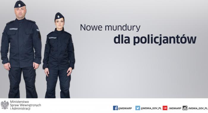 Tak prezentują się nowe mundury policjantów (grafika: mswia.gov.pl)