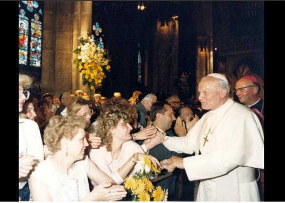 Łódź: Uroczystości z okazji 30. rocznicy wizyty Jana Pawła II z udziałem łódzkich samorządowców