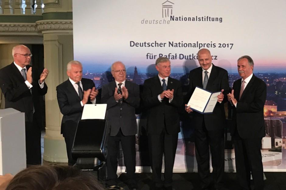 Rafał Dutkiewicz, prezydent Wrocławia z Niemiecką Nagrodą Narodową