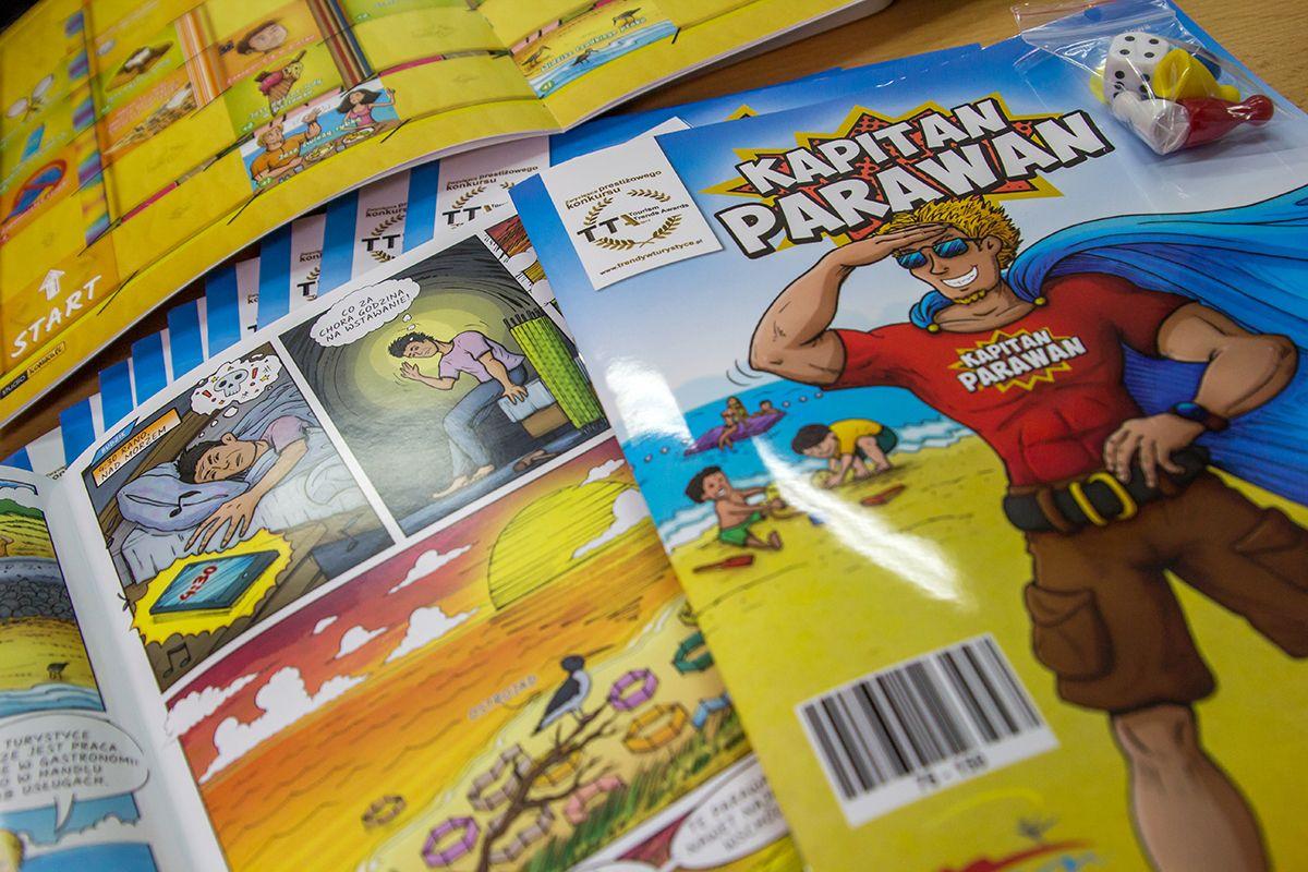 Komiks zawiera również grę pod tytułem